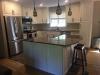 Antique White PVC Kitchen with Quartz Counter top