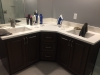 Corner Vanity with Quartz Tops