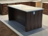 Walnut Island Back with Quartz Tops